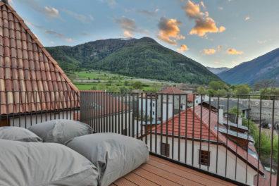 Wellness Hotel Glorenza Val Venosta rooftop view