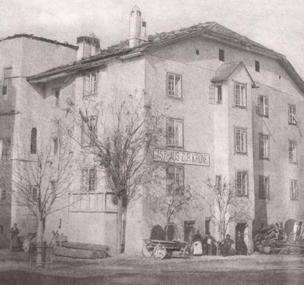 Gasthof Krone (heute Belvenu) in Glurns